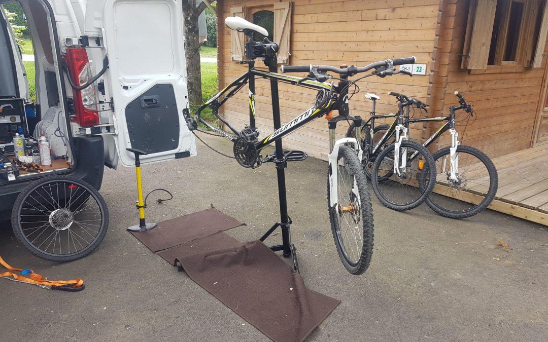 [Entretien VTT] Entretien des vélos du camping les rochers du parc